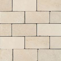 Crema Marfil Classico Brick Joint Tumbled - Marble Collection by daltile