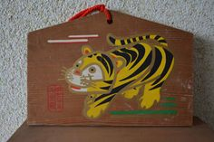 Japanese ema, hand painted  or screen printed wood #9 by StyledinJapan on Etsy