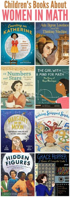 Childrens Books about Women in Math and Coding Mommy Evolution Math Books, Library Books, Kid Books, Math Resources, Math Activities, Children Activities, Science Teacher Gifts, Math Teacher, Math Classroom
