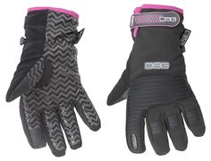 Versa Gloves - Charcoal/Pink Available in sizes XS-XL