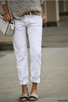 How To Make White Jeans Look Cool