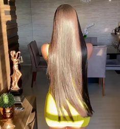 Sleek Hairstyles, Wig Hairstyles, Straight Hairstyles, Long Silky Hair, Very Long Hair, Hair Movie, Long Hair Models, Long Hair Play, Long Hair Video
