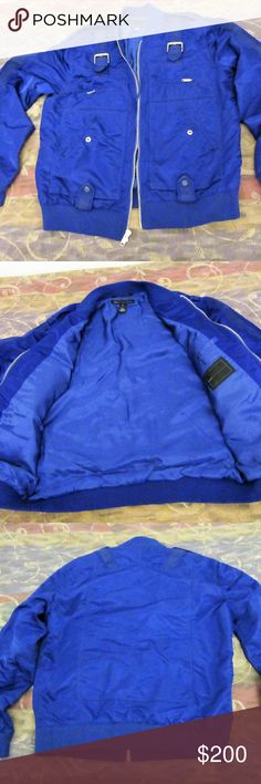 marc by marc jacobs blue moto jacket XL great shape  marc by marc jacobs blue moto jacket XL  pit to pit 23  shoulder to cuff 27  shoulder to shoulder 19 Marc By Marc Jacobs Jackets & Coats