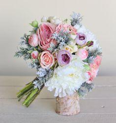 Rustic Silk Bridal Bouquet NEW 2014 Design by Morgann Hill Designs