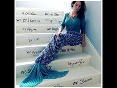 Crochet Mermaid Tail Adult Size - YouTube