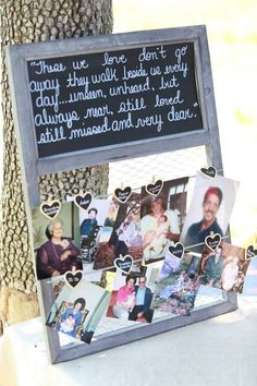 wedding relatives memory board - another sign idea