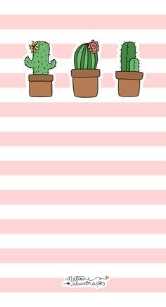 Cactos ♥ /// nw wallpaper, iphone wallpaper e screen wallpap Pastel Wallpaper, Flower Wallpaper, Screen Wallpaper, Iphone Wallpaper, Cactus Backgrounds, Cute Wallpaper Backgrounds, Phone Backgrounds, Paper Cactus, Cactus Plante