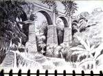 SKETSA | Planet Seni Rupa Mount Rushmore, Cathedral, Sketch, Mountains, Nature, Travel, Sketch Drawing, Naturaleza, Viajes