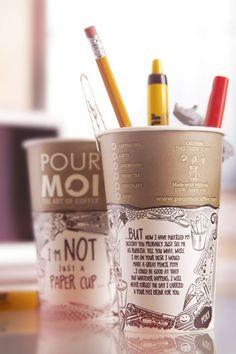 """Des tasses de café à réutiliser ! """"Pas qu'une simple tasse de café / étapes: design & culture visuelle"""""""