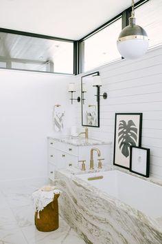 gorgeous glam bathroom
