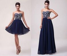 Vestito lungo elegante blu mankuma