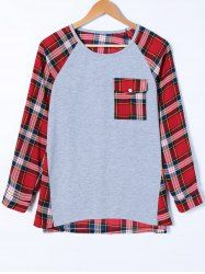 SHARE & Get it FREE | Flap Pocket Plaid Pattern T-ShirtFor Fashion Lovers only:80,000+ Items • New Arrivals Daily • Affordable Casual to Chic for Every Occasion Join Sammydress: Get YOUR $50 NOW!