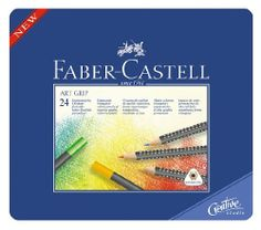 Faber-Castell Art Grip Colored Pencils, 24-Color Set by Faber-Castell. $22.77. FABER CASTELL ART GRIP 24 set of colored pencils have an Ergonomic triangular shape. Soft-Grip-Zone for comfort. 3.3mm highly pigmented leads, smooth color laydown. Brilliant permanent color, Acid-free, good fade resistance. SV- bonded leads to resist breakage, Eco-friendly.. They are highly pigmented and water-proof. The 3.3mm lead is resistant to wiping and gives soft vibrant color laydown. A water...