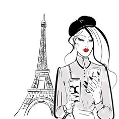 Dreaming of Paris and spring #illustrationoftheday