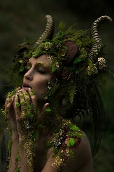Fantasy | Magical | Fairytale | Surreal | Enchanting | Mystical | Myths | Legends | Stories | Dreams | Adventures | Photographer: Emily Nicole Teague Photography Model: Kelli Kickham Makeup: Mckenzie Gregg MUA Headdress: Miss G Designs Horns: Faust & Company Lighting Assistant: Christina Schellhous