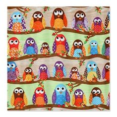 Funky Owls Shower Curtain