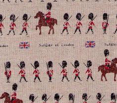 SALE  HALF YARD  London Soldier  Guardsman British by fabricsupply, $6.50