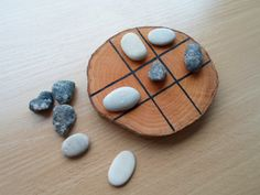 Tic Tac Toe Game Wood Table Game Wooden Tic Tac Toe by LumaLine
