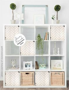 Bookshelves In Bedroom, Bookcase, Board Game Shelf, Chevron Door, Ikea Cubes, Kids Bedroom, Bedroom Ideas, Bedroom Decor, Easy Install