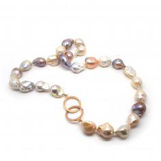 ORRO - Large Baroque Pearls & Red Gold Clasp - ORRO Contemporary Jewellery Glasgow - www.ORRO.co.uk