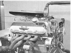 1964 Ford SOHC 427 NASCAR engine , banned by NASCAR Nascar Engine, Motor Engine, Ford Racing Engines, Race Engines, Motor Ford, Crate Motors, 1964 Ford, Performance Engines, Ford Classic Cars