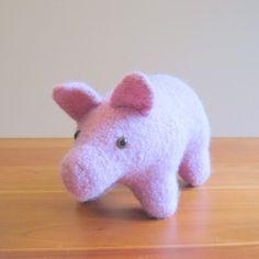 Handmade Pig Stuffed Animal