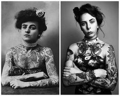 👋 Hi, this is Maud. She was the first known female tattoo artist in America a. - 👋 Hi, this is Maud. She was the first known female tattoo artist in America and a circus perform - Female Tattoo Artists, Circus Performers, About Me Blog, Cosplay, America, Tattoos, Pretty, Women, Fashion