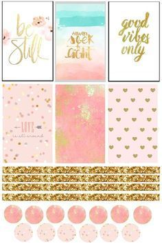 Free All That Glitters Planner Stickers                                                                                                                                                     More