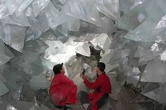 Giant Crystal Cave in Mexico