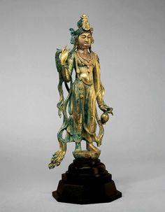 Gilt Bronze Figure of the Bodhisattva Guanyin. China, Tang Dynasty, 8th century