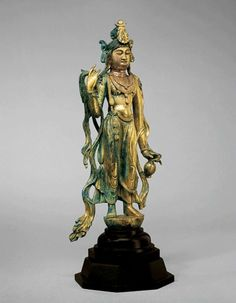 Gilt Bronze Figure of the Bodhisattva Guanyin. China, Tang Dynasty, 8th century