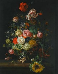 Rachel Ruysch Still Life with Flowers and Insects 1710