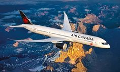 To celebrate its birthday, Air Canada is introducing a brand new livery. For the first time in many years, the famous Air Canada Rondelle will. Boeing 787 Dreamliner, Boeing 787 8, Air France, Doha, Canadian Airlines, Airline Reservations, Aviation Industry, Domestic Flights, Civil Aviation