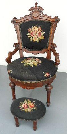 Antique Victorian Renaissance Revival Parlor Chair Orig 1870's Clean | eBay