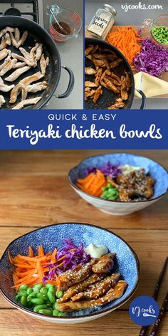 A quick version of my teriyaki chicken bowls using fried chicken breast, teriyaki sauce, rice, edamame beans, fresh vegetables & japanese mayo. Raw Food Recipes, Mexican Food Recipes, Chicken Recipes, Dinner Recipes, Cooking Recipes, Healthy Recipes, Ethnic Recipes, Drink Recipes, Cooking Tips