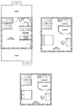20x20 Tiny House -- #20X20H7B -- 1,082 sq ft - Excellent Floor Plans