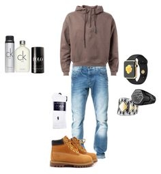 """Trying something new. What ya think?"" by amari-hylton ❤ liked on Polyvore featuring Zara, Timberland, Calvin Klein, Ralph Lauren, David Yurman, Polo Ralph Lauren, mens, men, men's wear e mens wear"