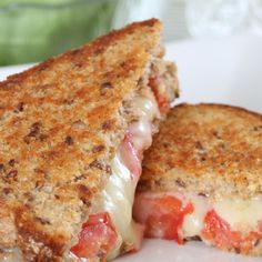 A great tasting grilled cheese and tomato sandwich recipe on grain bread.. Grilled Cheese and Tomato Grain Bread Sandwich Recipe from Grandmothers Kitchen.