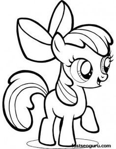 Free Printable My Little Pony Friendship Is Magic Apple Bloom coloring pages for girls.free online my little pony friendship is magic characters for girls fargelegge tegninger Rainbow Pony, Rainbow Dash, My Little Pony Coloring, Coloring Pages For Kids, Kids Coloring, Free Coloring, Apple Coloring, Unicorn Coloring Pages, Coloring Book Pages