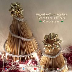 Straight No Chaser Magazine Christmas Tree!  Repin on http://www.sncmusic.com/adventcalendar for your chance to win Straight No Chaser merchandise throughout the holiday season! Under the Influence: Holiday Edition Available Now: https://itunes.apple.com/wa/album/under-influence-holiday-edition/id721935523?uo=4