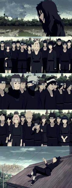 Asuma's funeral.