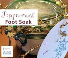 Peppermint Foot Soak Recipe - Homemade Christmas Gifts - Five Spot Green Living