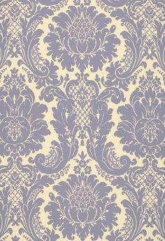 FSchumacher Fabric 2643543 Harmon Manor II Blue