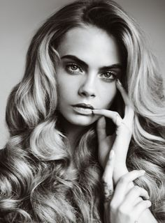 Cara Delevingne big hair