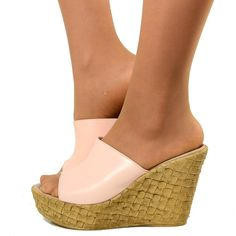 Wedges High Woman with range containment Leather Powder