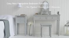 The dressing table has two drawers, perfect for storing larger items of jewellery, make up or toiletries. Description from thewhitelighthousefurniture.co.uk. I searched for this on bing.com/images