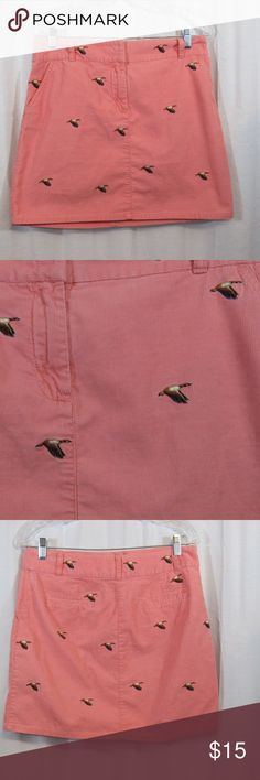 "J. Crew Pink Corduroy Duck Short Skirt 6 Size: 6 Material: 100% Cotton Care Instructions: Machine Wash Waist: 33"" Length: 17""  All clothes have been inspected and are in excellent used condition unless otherwise noted. P62 J. Crew Skirts Mini"