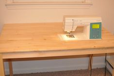 Make a platform sewing table. I love this idea and have already told dh that I am saving it for him to make for me. LOL