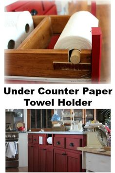 Save space with this DIY under the counter paper towel holder