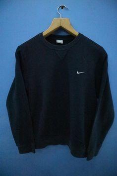 624e4142329ee Vintage Nike Sweatshirt Minimalist Logo Sport Sweatshirt Street Wear Hip  hop Sweater Size L